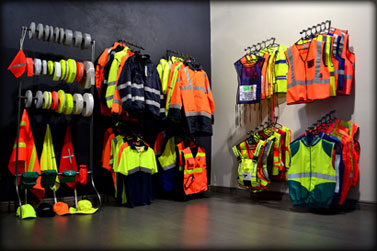 Reflective clothing showroom