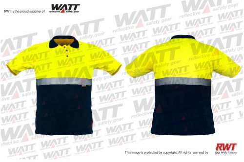 Rob Wyly Trading Quality Reflective Clothing RWT Shop Online GSLN---Golf-Shirt-Lime-Navy