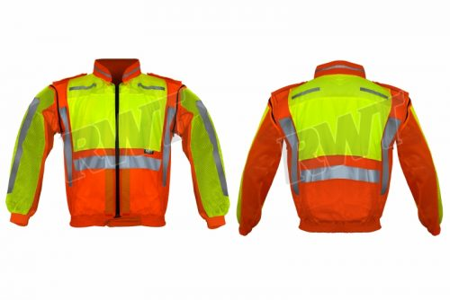 COLLAR JACKET – orange lime long sleeve zip off RWTSA shop online