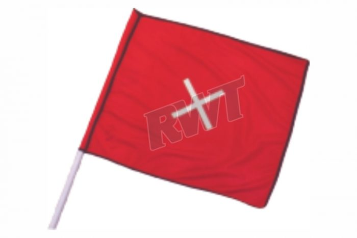 FLAG – red complete with pole