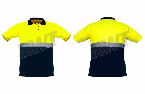 GOLFSHIRT – two tone lime navy RWT SA Shop Online