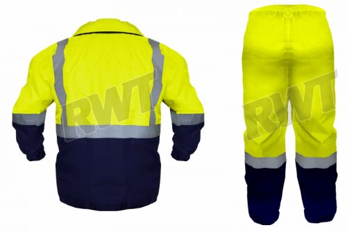 RAINSUIT – two tone lime and navy back RWT Sa shop online