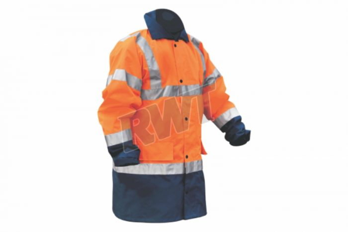 RAINCOAT – class 3 non-breathable orange and navy