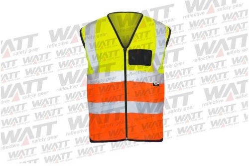 Vest Rob Wyly Trading Quality Reflective Clothing Shop Online RWTSA-Poly-2-Tone-Lime-Orange-Front (1)