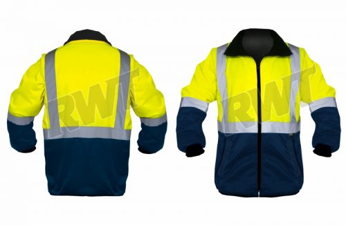 STANDARD JACKET – two tone lime and navy RWT Sa shop online