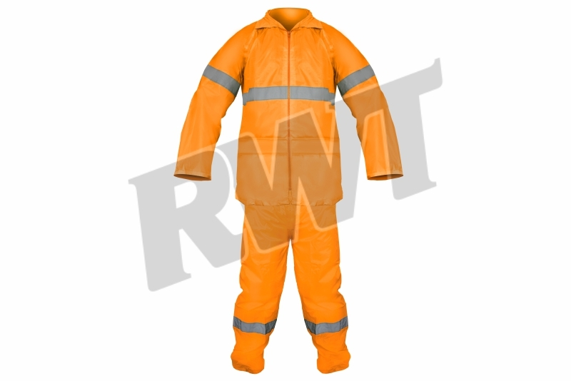 RAINSUIT – econo orange RWT reflective clothing